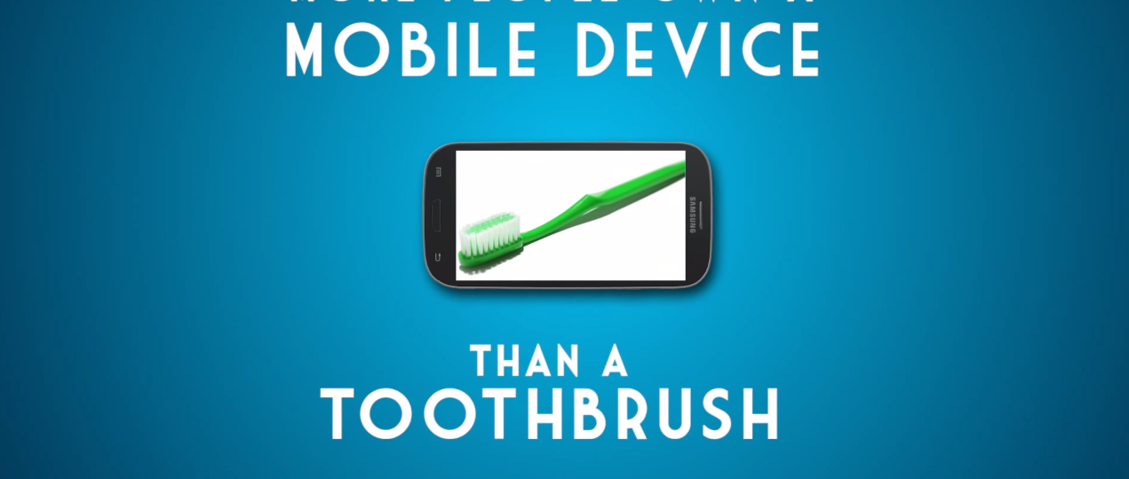 More mobile devices than toothbrushes